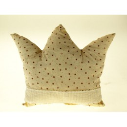 Coussin Couronne pois