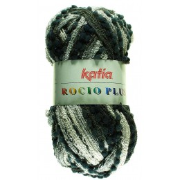 Laine écharpe Rocio plus gris noir