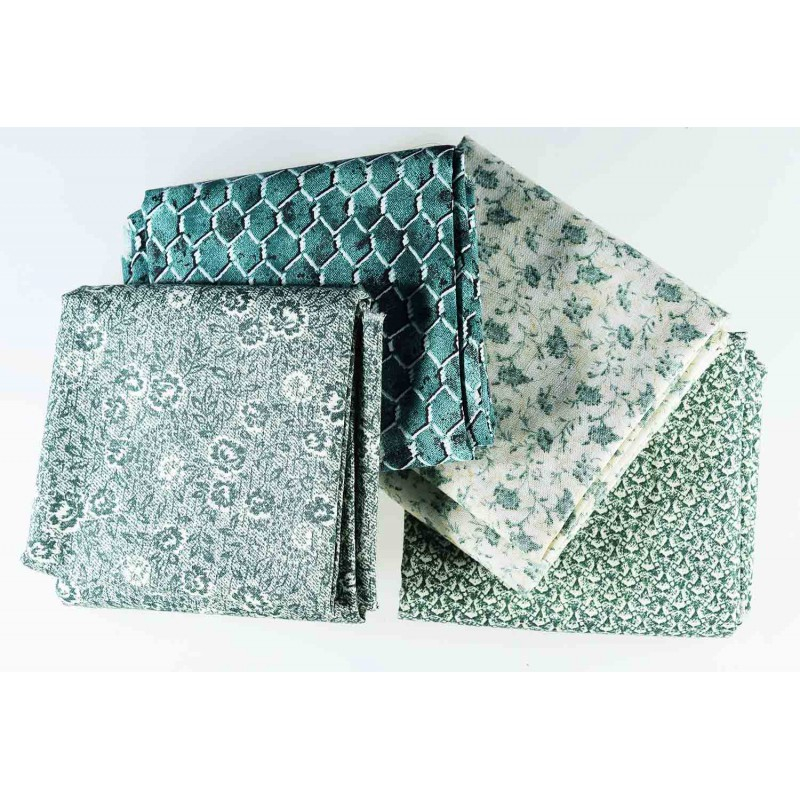 Coupons tissus patchwork vert pas cher - Tissus patchwork pas cher ...