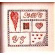 Coeurs en carré