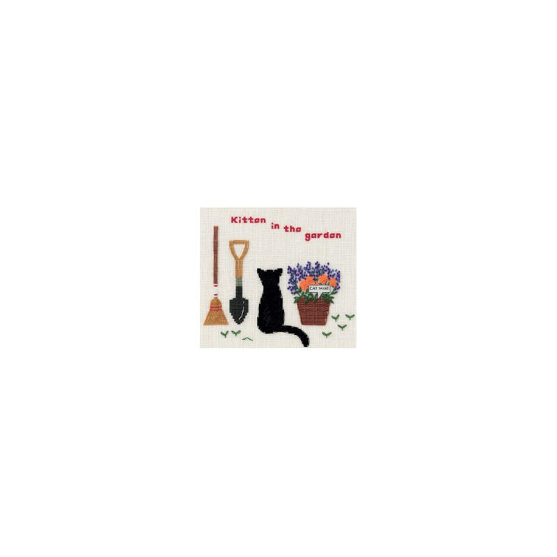 Kit dmc en soldes avec un chat for Dans un jardin boutique
