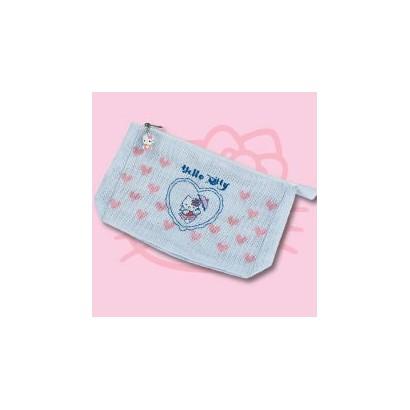Pochette bleue Hello Kitty