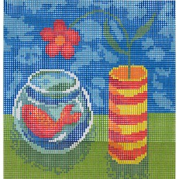 Vase et poisson rouge