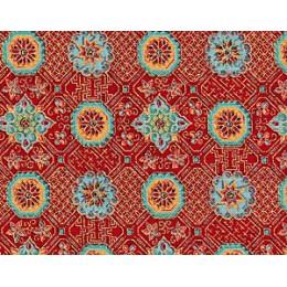 Tissu Rosaces vertes 3793 R07