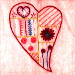 Patch 18-Coeur-Rose