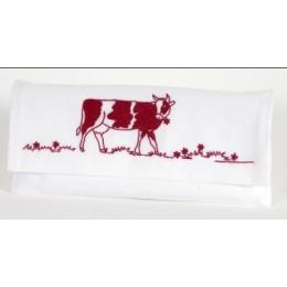 Pochette serviette Vache